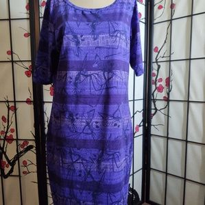 LuLaRoe NBC Disney Villians Julia 👗 dress L long